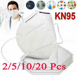 1/2/5/10/20pcs 5-Layers KN95 Grade Face Mouth Cover Mask Protection Anti Dust Saliva Filtered Anti-Dust Wholesale