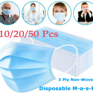 10/20/50 pcs Disposable Face masK 3 Ply Polyester with Ear Loop 100%