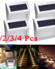 1/2/3/4 Packs Solar Deck Lights, Super Bright LED Walkway Light Stainless Steel Waterproof Outdoor Security Lamps for Patio Stairs Garden Pathway