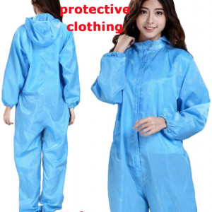 Reusable Washable Coverall Durable Boiler Hood Painters Protective Overalls Suit Blue Clothing