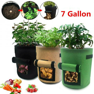 7Gallon Potato Planting Grow Bag Pot Planter Growing Garden Vegetable Container