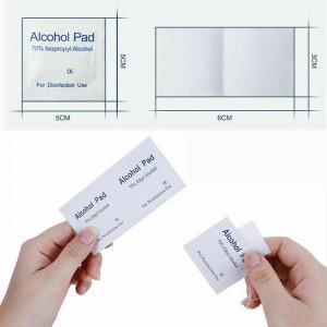 100Pcs Alcohol Prep Pads Disposable Cotton Sterilization Swab Saturated Wet Wipe