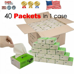 40 Pack 3-ply Household Paper Towels Soft Paper KitchenBathroom US STOCK