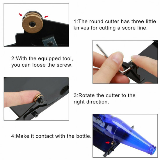 Glass Bottle Cutter Accurate Cutting Machine Beer Wine Jar Household Cutting Tool Kit DIY Tool Kit