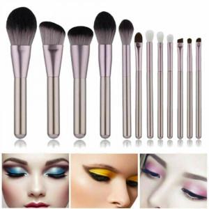12pcs Professional Makeup Brushes Set Eyeshadow Lip Powder Blusher Cosmetics Kit