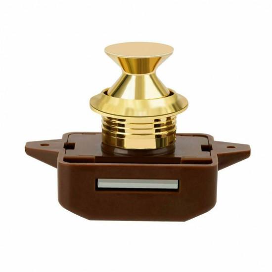 1/5X Push Button Pop Up Lock Latch Knob Cabinet Motorhome Caravan Cupboard Lock