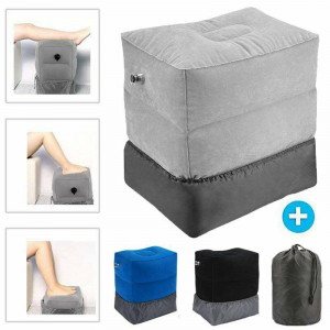 Inflatable Foot Rest Travel Air Pillow Office Home Nap Cushion Leg Up Footrest