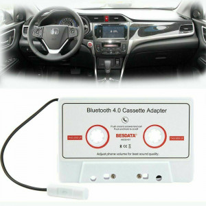 4.0 Bluetooth Music Audio Receiver Cassette Player Adapter for Auto Car White