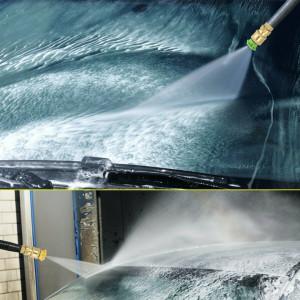 5Pcs High Pressure Washer Trigger Gun Foam Lance Spray Tips Rotary Turbo Nozzle Kits