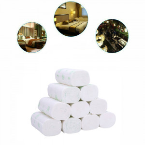 50 Rolls Paper Hand Towels Roll Tissue 5-Ply Napkins Household coreless US New