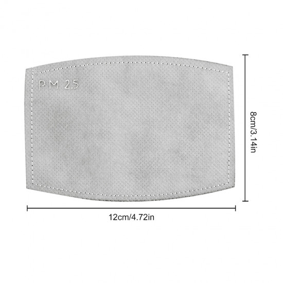 10/20/30/40X PM2.5 5Lay Filter Breath Insert Anti-Dust Outdoor Mouth Face Cover For Adult