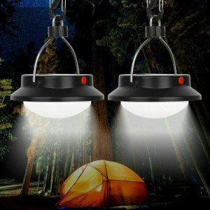 2pcs Camping Outdoor Light 60 LED Portable Umbrella Tent Night Lamp Hiking Lantern