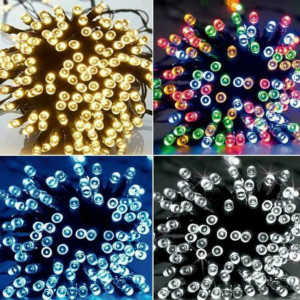 TKOOFN Solar Powered Fairy Lights String 100-500 LED Waterproof Outdoor Garden Party